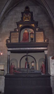 Memorial to Thomas Jones in St. Patrick's Cathedral, Dublin.