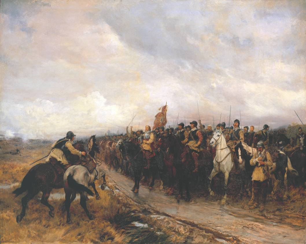 Cromwell at Dunbar 1886 Andrew Carrick Gow 1848-1920