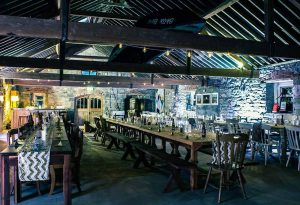 Durhamstown Castle wedding venue great barn